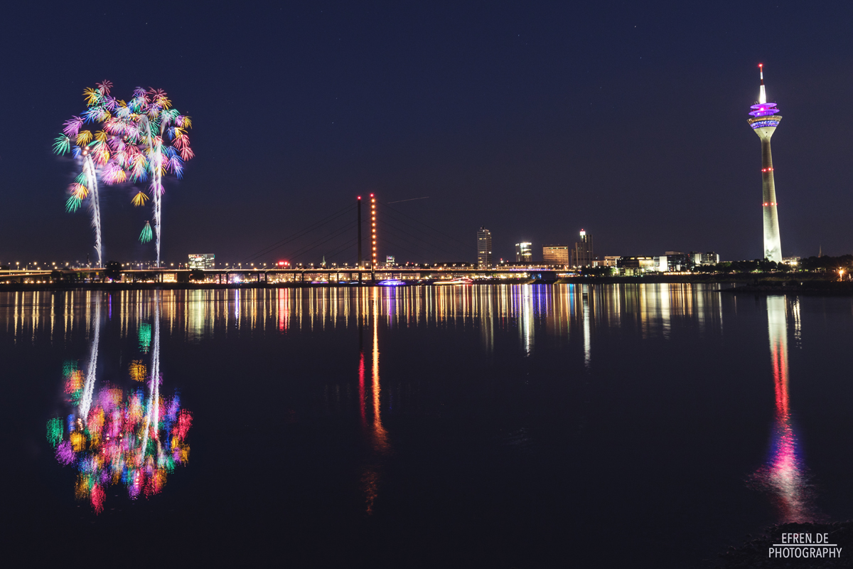 Japanisches Feuerwerk Düsseldorf 2017